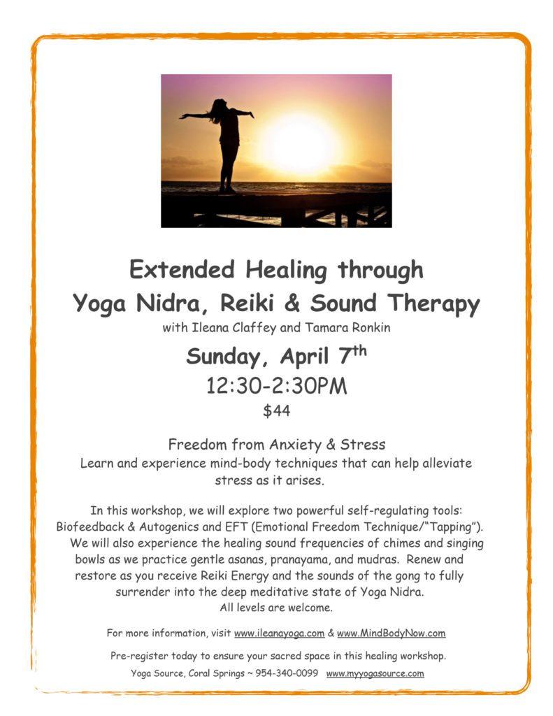Healing through Yoga Nidra, Reiki & Sound Therapy
